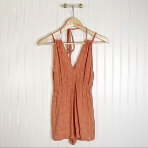 Dance & marvel small orange Vneck romper